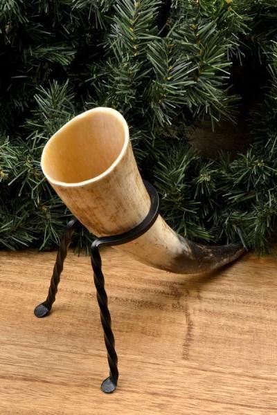 Mittelalter Trinkhornständer für unterwegs