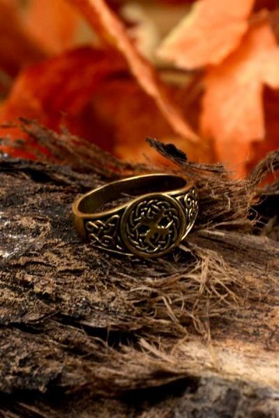 Wikinger Siegelring Yggdrasil aus Bronze