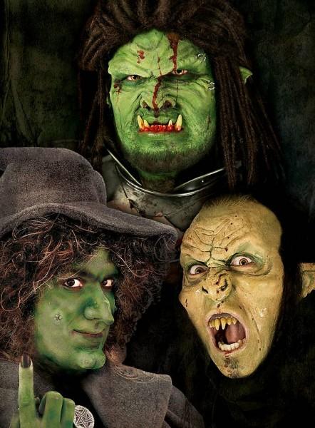 Monster Profi Make-Up für LARP Halloween und Fasching