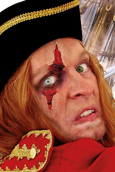 Gesichtswunde Latexapplikation für Mittelalter, LARP und Halloween