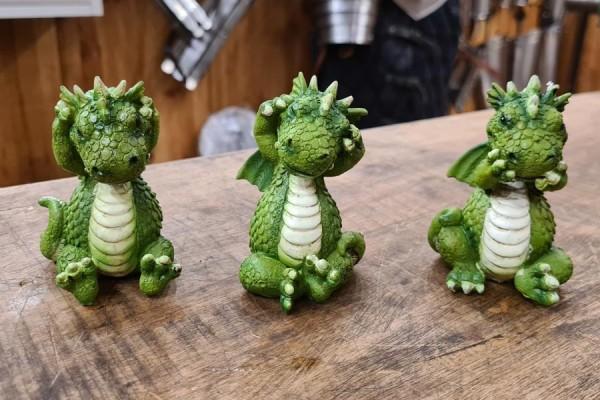 Die drei Weisen Drachen - handbemalt