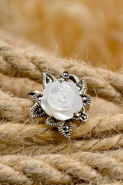 Mittelalter Ring Anabell aus Silber