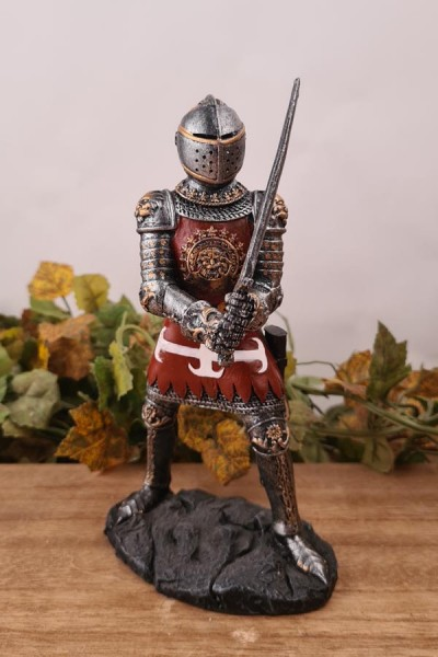 Ritter in Plattenrüstung im Zweikampf - handbemalt