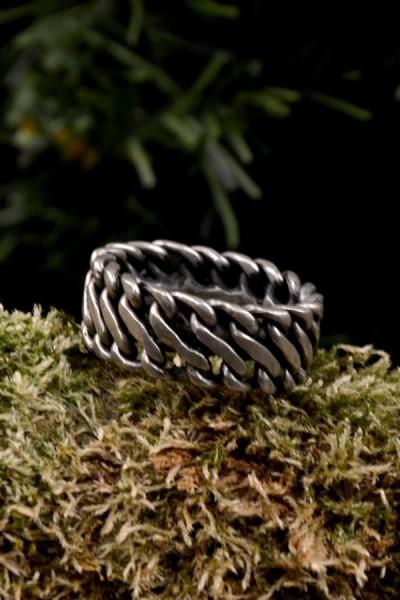 Wikinger Prunkring Ragnar aus Silber