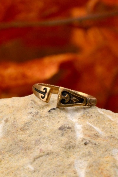 Wikinger Ring Helgi aus Bronze