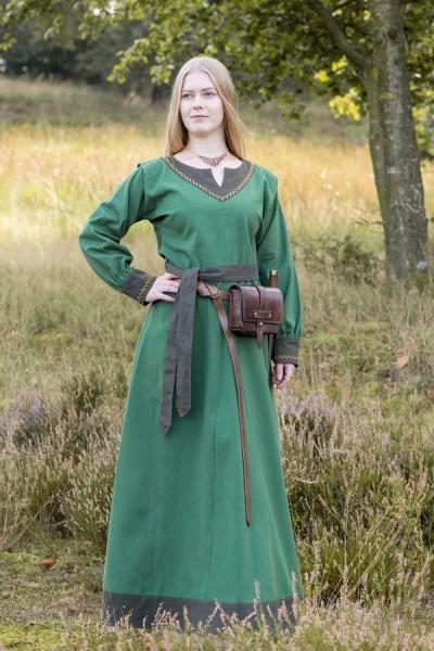 Wikinger Kleid Torvi mit Stickerein