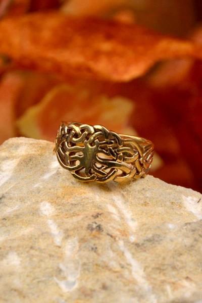 Wikinger Ring Weltenesche aus Bronze