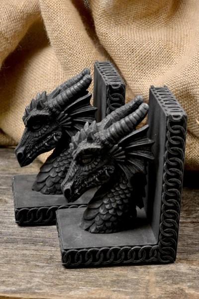 Buchstützen Drachenkopf