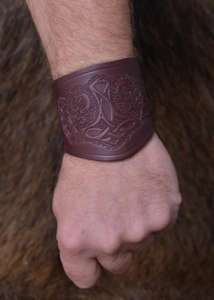 Armstulpe Thorshammer aus Leder