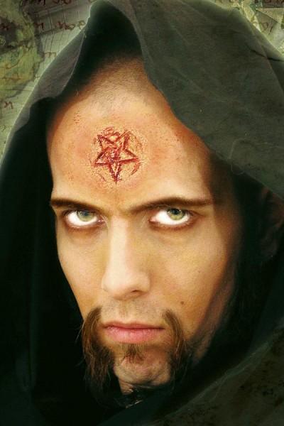 Pentagramm Latexapplikation für Halloween, LARP und Fasching