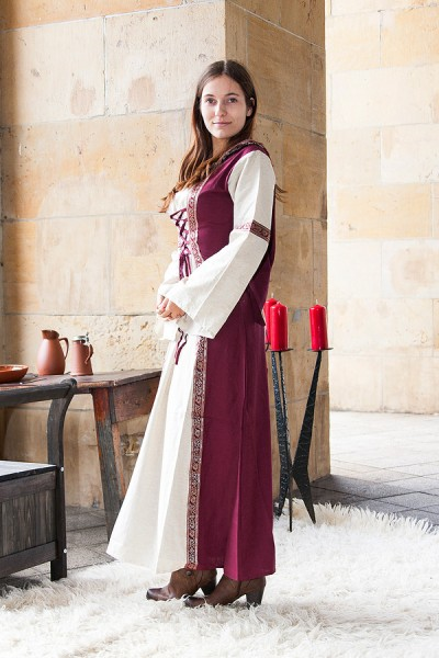 Mittelalter Kleid Kirsten mit Kapuze