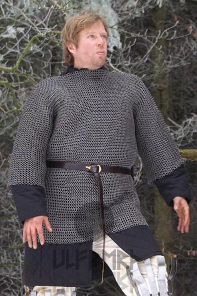 Mittelalter Kettenhemd Haubergon 8 mm Rundring - unvernietet