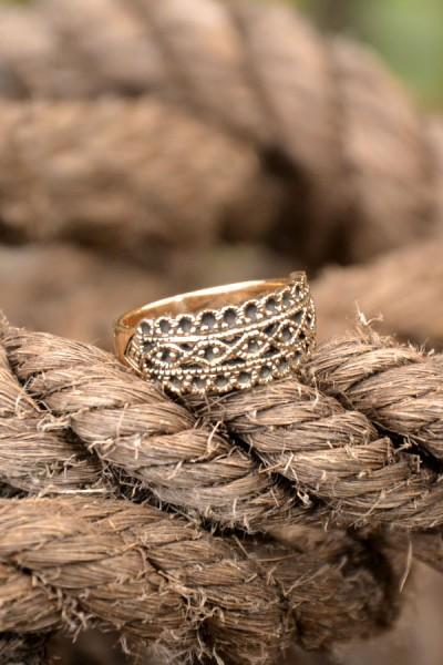 Mittelalter Ring Jeanne aus Bronze