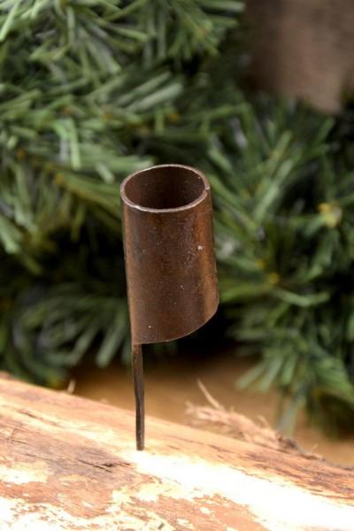 Mittelalter Kerzenhalter zum Einschlagen - handgeschmiedet