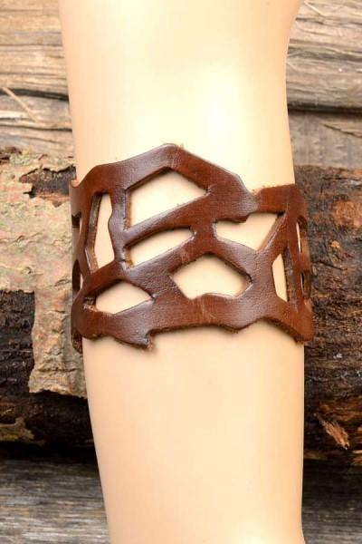 LARP Armband Elbenkrieger aus Leder