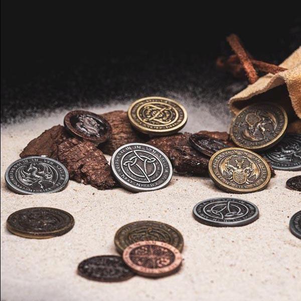 LARP Münzen Set Feuer