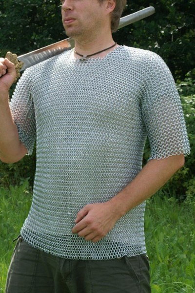 Mittelalter Kettenhemd kurzarm - verzinkt