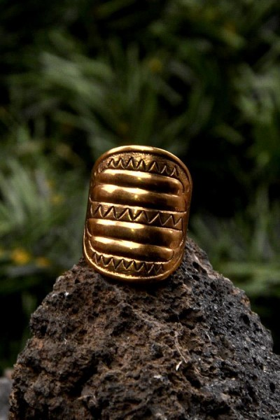 Wikinger Prunkring Hroerik aus Bronze